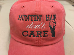 Huntin' Hair Don't Care with Deer Embroidered Baseball Cap