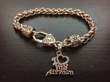 Load image into Gallery viewer, I Love My Airman Charm Bracelet