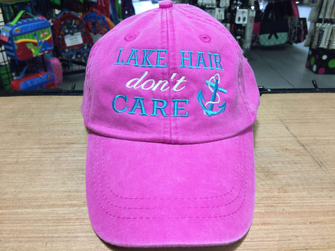 Lake Hair Don't Care Embroidered Baseball Cap