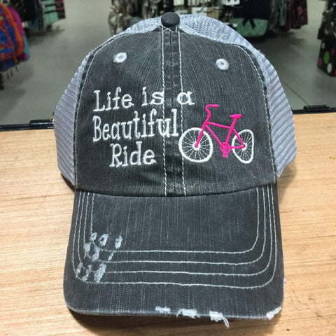 Life is a Beautiful Ride with Bicycle Trucker Cap
