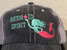 Load image into Gallery viewer, Mermaid Spirit Distressed Trucker Cap