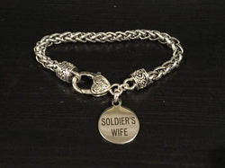 Soldier's Wife Engraved Charm Bracelet