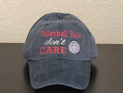 Volleyball Hair Don't Care Baseball Cap