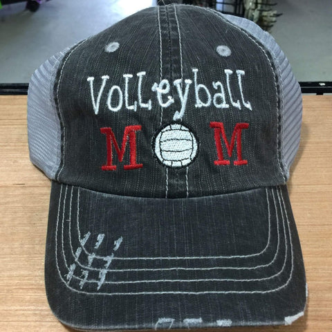 Volleyball Mom Distressed Trucker Cap