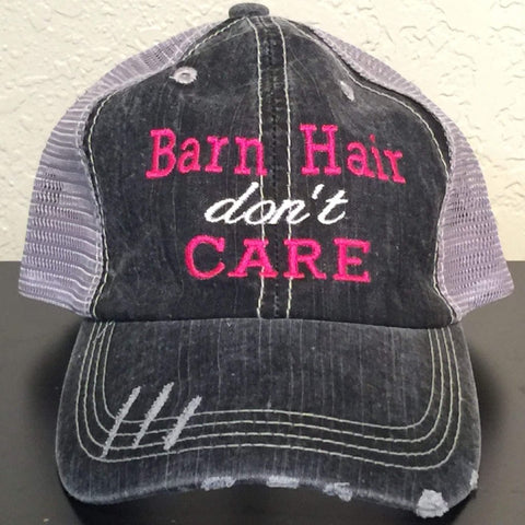 Barn Hair Don't Care Embroidered Trucker Cap