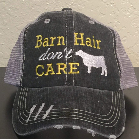 Barn Hair Don't Care with Steer Trucker Cap