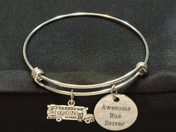 Awesome Bus Driver Adjustable Bangle Bracelet