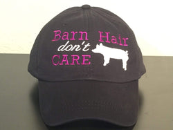 Barn Hair Don't Care with Pig Preppy Baseball Cap