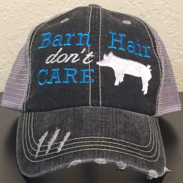 Barn Hair Don't Care with Pig Trucker Cap