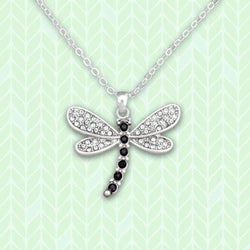 Dragonfly Rhinestone Necklace