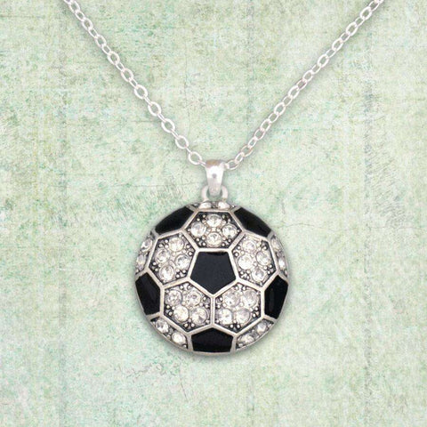 Soccer Ball Rhinestone Necklace