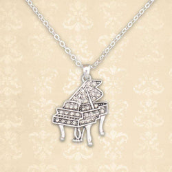 Piano Rhinestone Necklace