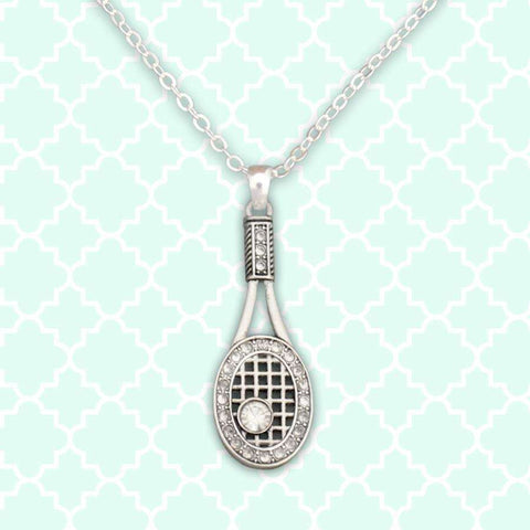 Tennis Theme Rhinestone Necklace