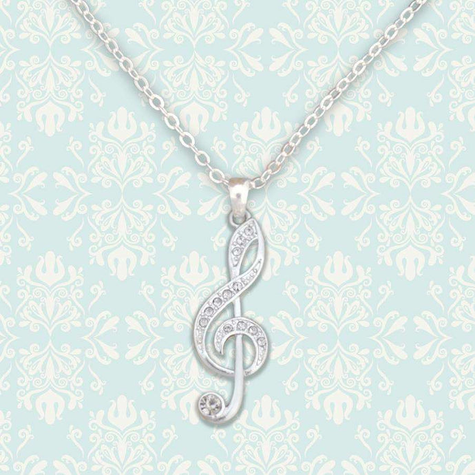 Treble Clef Music Note Necklace,Necklaces