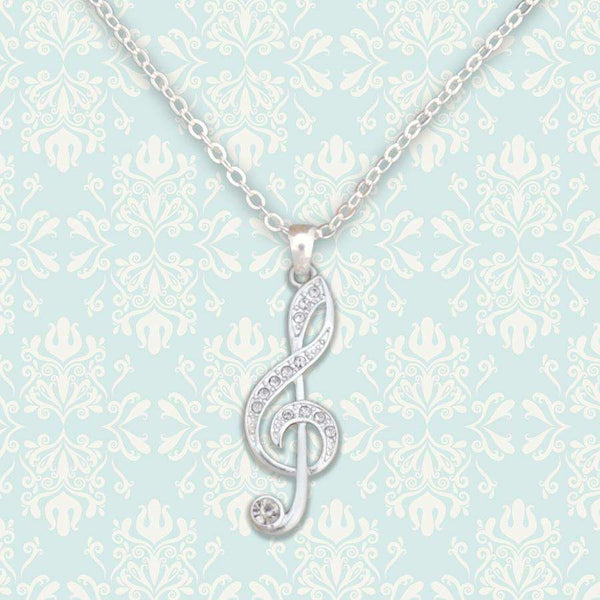 Treble Clef Music Note Necklace