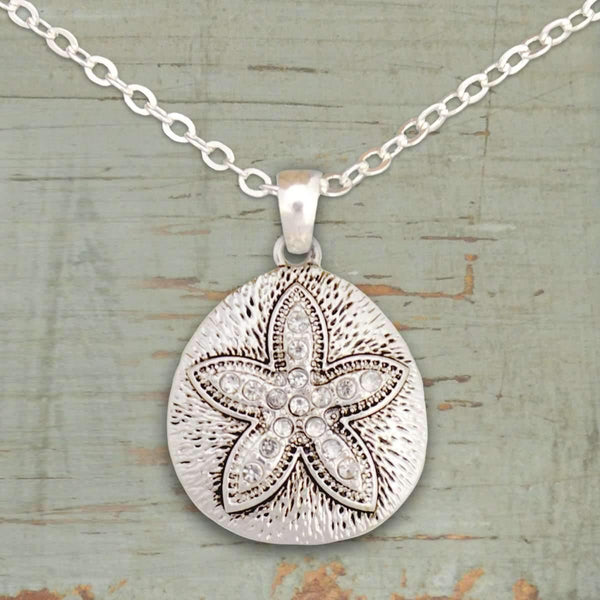 Sand Dollar Rhinestone Necklace