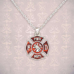 Petite Fire Department Necklace