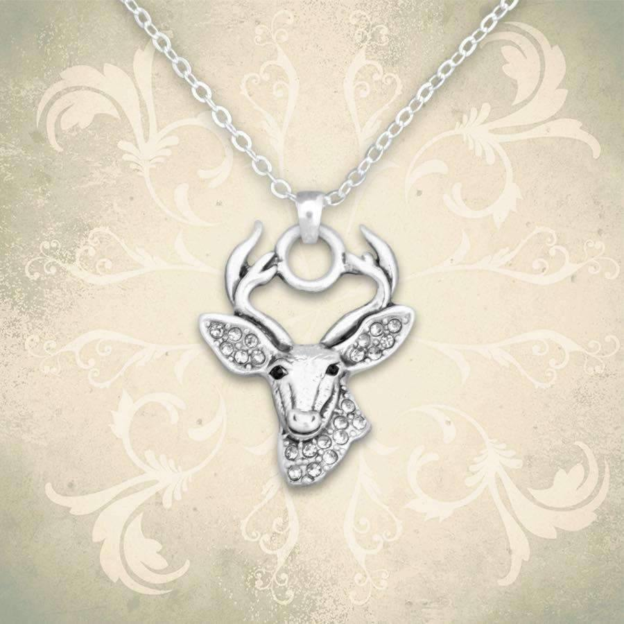 Deer Rhinestone Necklace,Necklaces