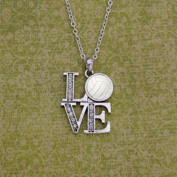 LOVE Volleyball Necklace,Necklaces