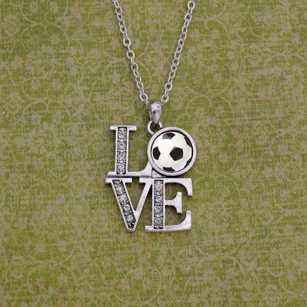 LOVE Soccer Necklace,Necklaces