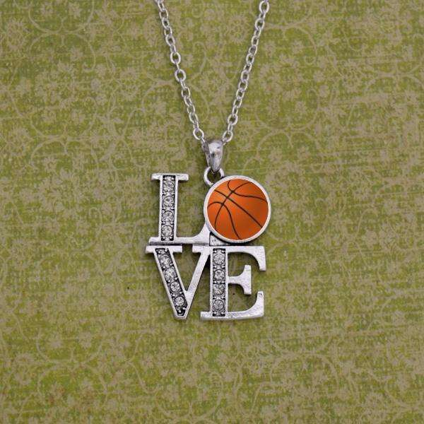 LOVE Basketball Necklace,Necklaces