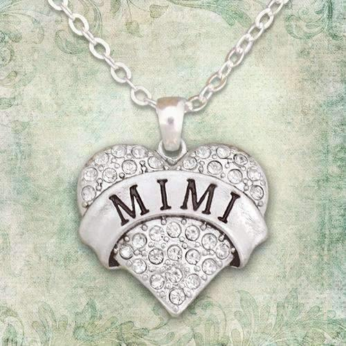 Mimi Rhinestone Heart Necklace