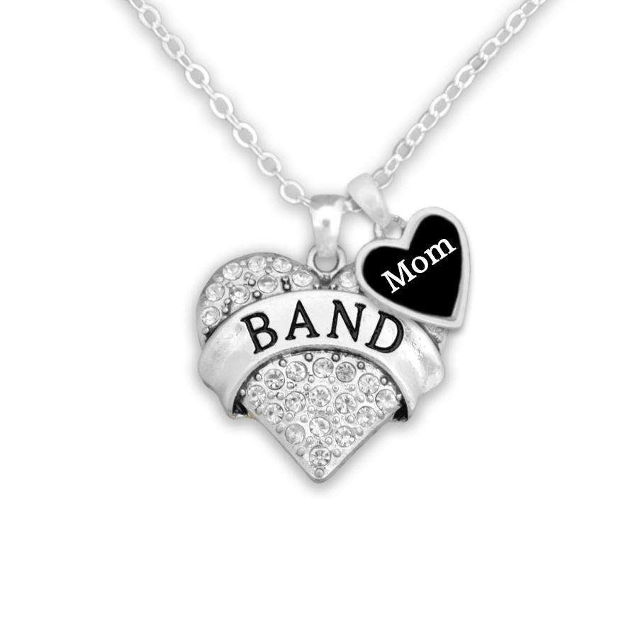 Band Mom Heart Necklace