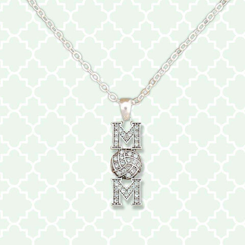Volleyball Mom Rhinestone Necklace