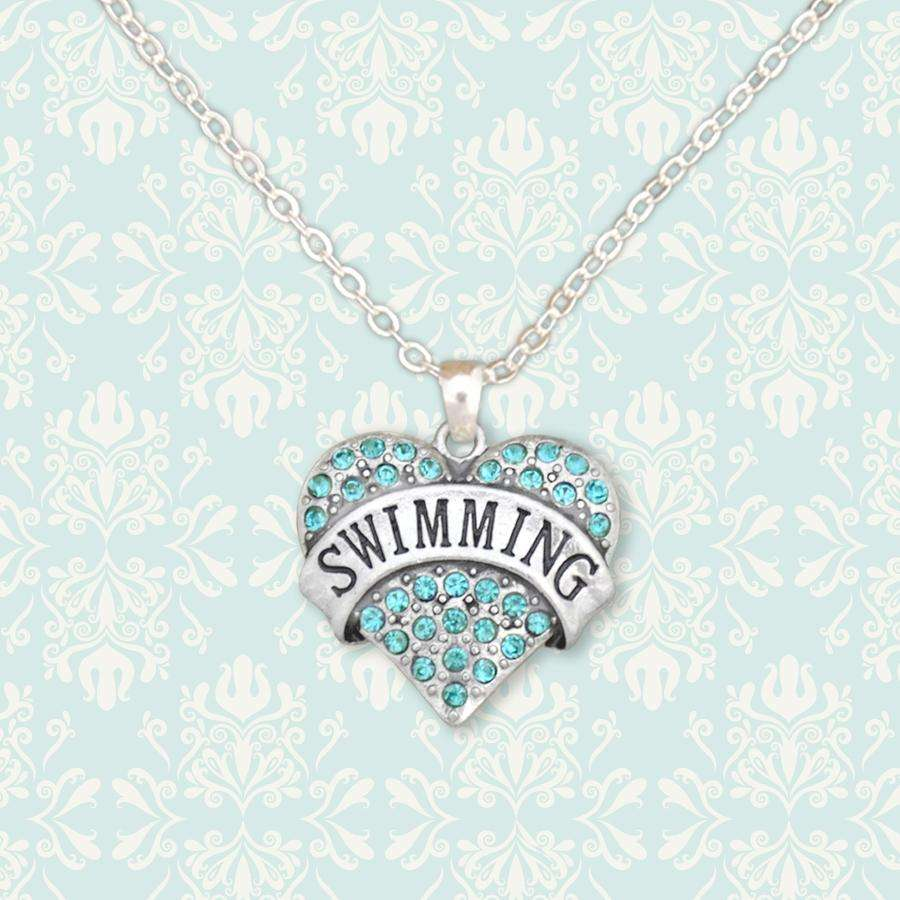 Swimming Rhinestone Necklace,Necklaces