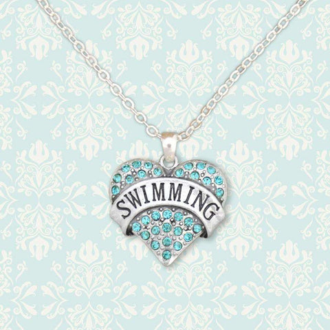 Swimming Rhinestone Necklace