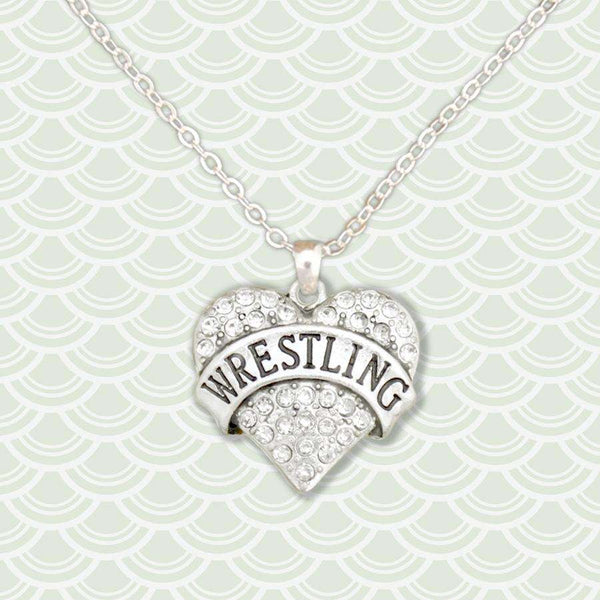 Wrestling Rhinestone Necklace