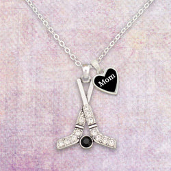 Hockey Mom Rhinestone Necklace with Two Charms