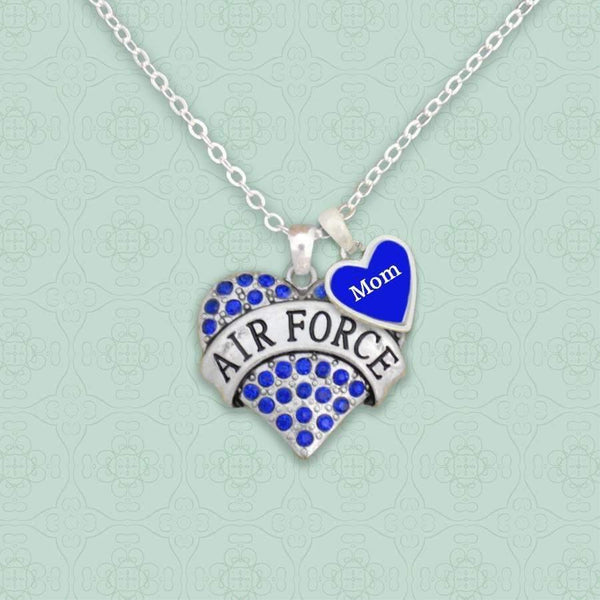 Air Force Mom Heart Necklace