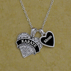 Karate Mom Necklace with Two Charms