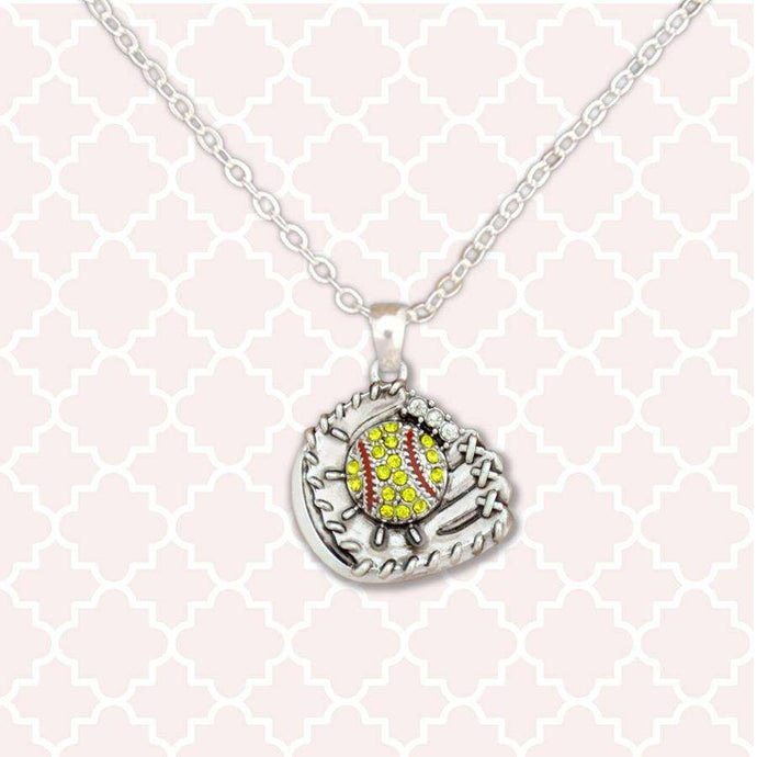 Softball Glove Necklace,Necklaces