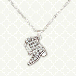 Majorette Boot Rhinestone Necklace