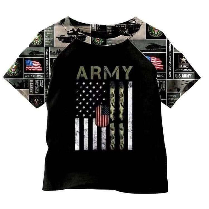 Army Short Sleeve Shirt,Kids Clothes