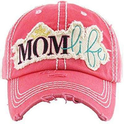 MOM Life Vintage Distressed Trucker Cap