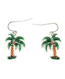 Palm Tree Colored Earrings