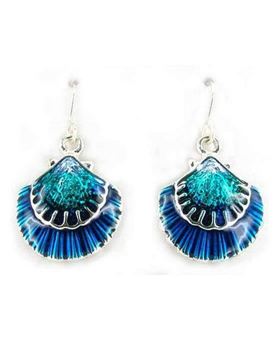 Sea Shell Blue Earrings