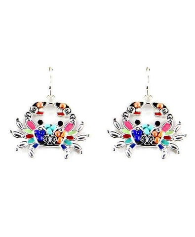 Multi Color Crab Earrings