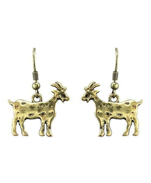 Burnished Gold Goat Earrings