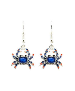 Blue Crab Fashion Earrings