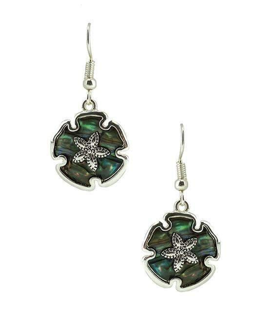 Abalone Sand Dollar Earrings,earrings