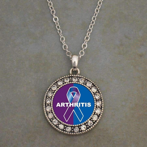 Arthritis Awareness Ribbon Necklace