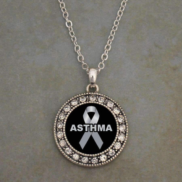 Asthma Awareness Ribbon Necklace
