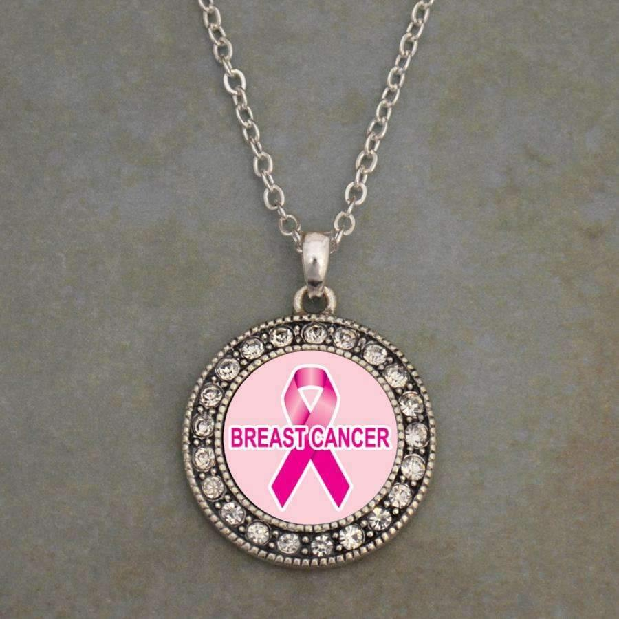 Breast Cancer Awareness Ribbon Necklace,Necklaces