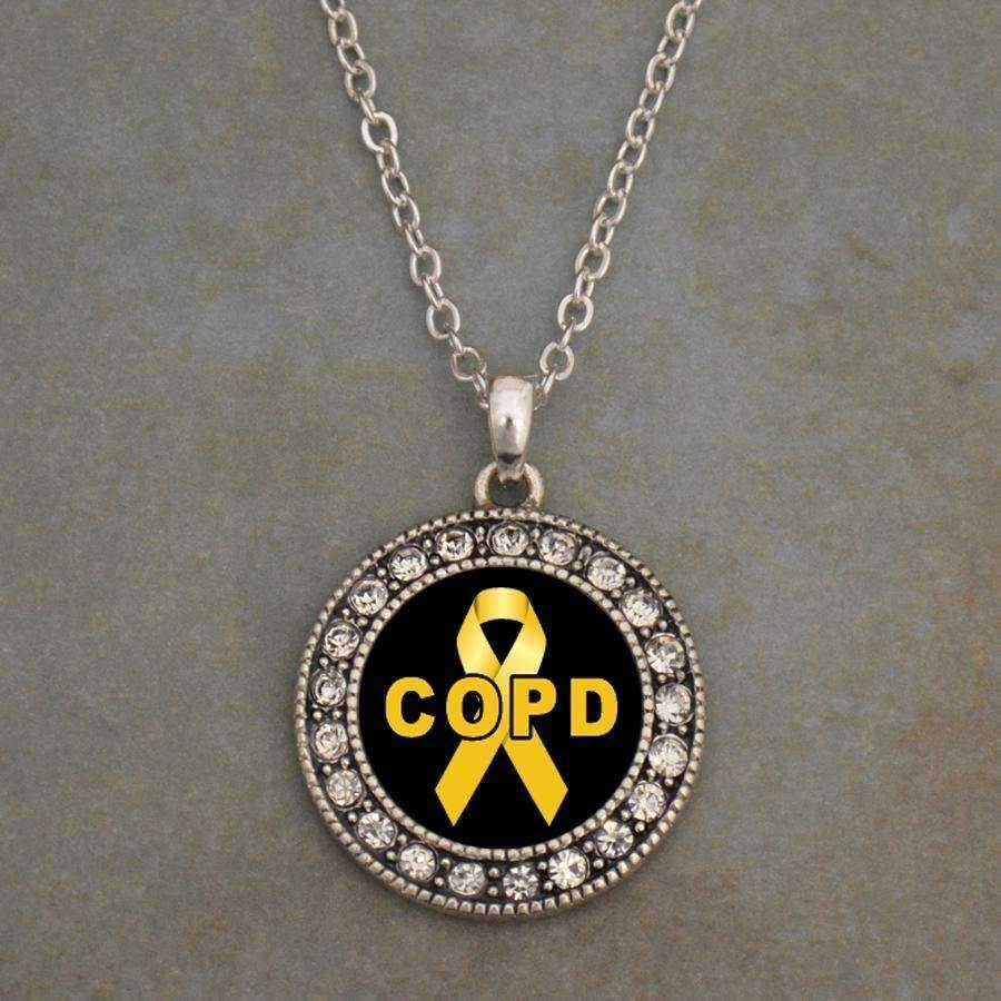 COPD Awareness Ribbon Necklace