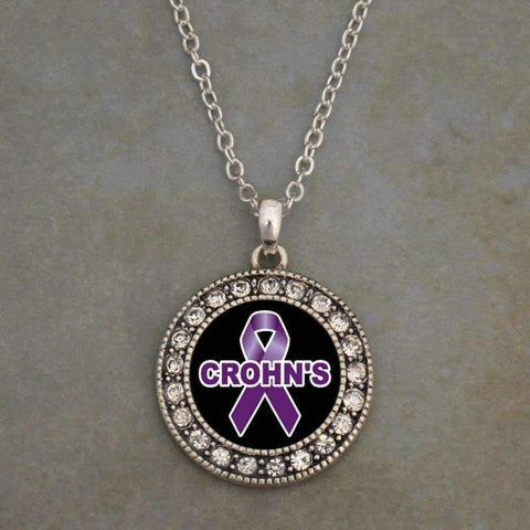 Crohn's Awareness Ribbon Necklace