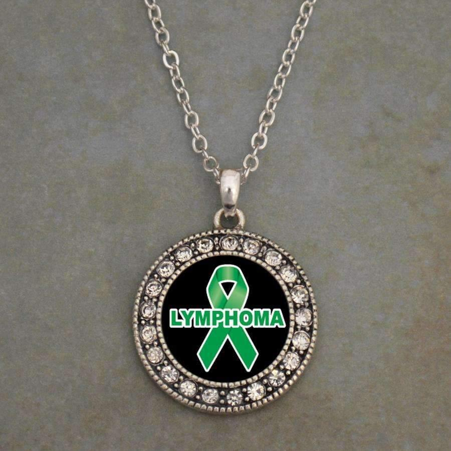 Lymphoma Awareness Ribbon Necklace